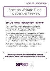 Scottish Welfare Fund Advisers Information Leaflet