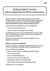 Customer Service Complaints leaflet