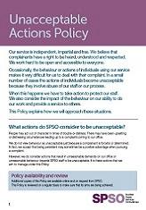 Unacceptable Actions Policy